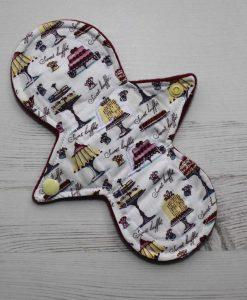 "8"" Liner cloth pad | Cakes Galore Cotton | Wine Wind Pro Fleece | Luna Landings | Slim Sub"