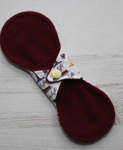 8″ Liner cloth pad | Cakes Galore Cotton | Wine Wind Pro Fleece | Luna Landings | Slim Sub 4