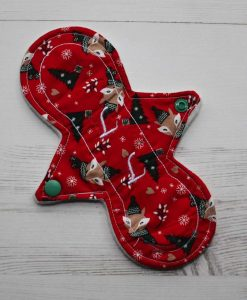8″ Liner cloth pad | Festive Fox Cotton | Cream Wind Pro Fleece | Luna Landings | Slim Sub 1