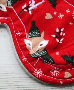 8″ Liner cloth pad | Festive Fox Cotton | Cream Wind Pro Fleece | Luna Landings | Slim Sub 2