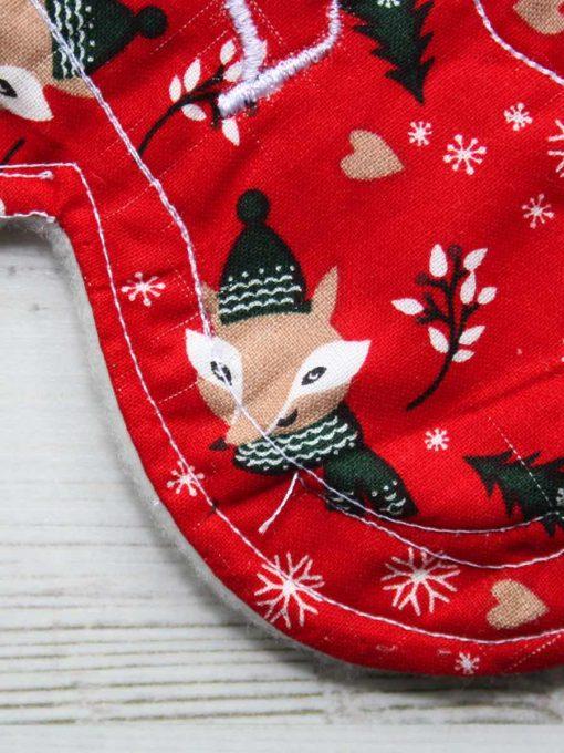 "8"" Liner cloth pad | Festive Fox Cotton | Cream Wind Pro Fleece | Luna Landings | Slim Sub"