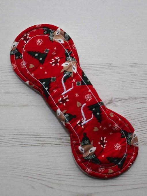 8″ Liner cloth pad | Festive Fox Cotton | Cream Wind Pro Fleece | Luna Landings | Slim Sub 5
