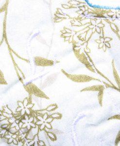 "8"" Liner cloth pad | Meadow Cotton | Teal Polar Fleece | Luna Landings | Slim Sub"