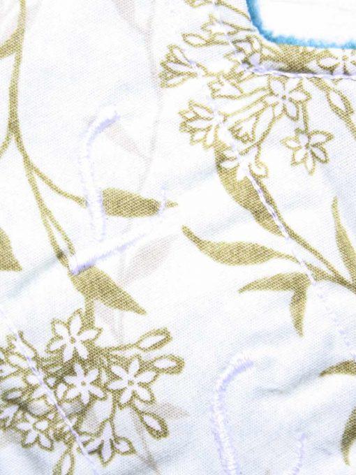 8″ Liner cloth pad | Meadow Cotton | Teal Polar Fleece | Luna Landings | Slim Sub 2
