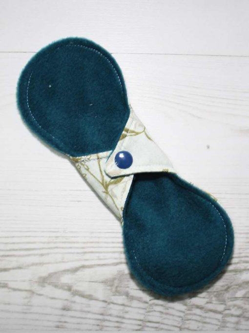 8″ Liner cloth pad | Meadow Cotton | Teal Polar Fleece | Luna Landings | Slim Sub 4