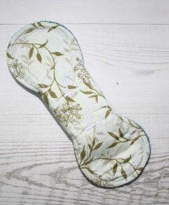 8″ Liner cloth pad | Meadow Cotton | Teal Polar Fleece | Luna Landings | Slim Sub 5