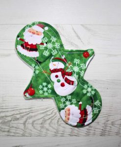8″ Liner cloth pad | Santa and Snowman Cotton | Cream Wind Pro Fleece | Luna Landings | Slim Sub 1