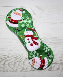 8″ Liner cloth pad | Santa and Snowman Cotton | Cream Wind Pro Fleece | Luna Landings | Slim Sub