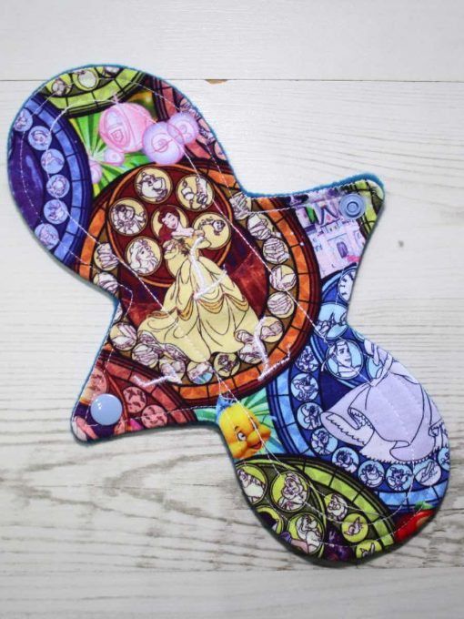 9″ Light Flow cloth pad | Royal Glass Cotton Jersey | Blue Wind Pro Fleece | Luna Landings | Slim Sub 1