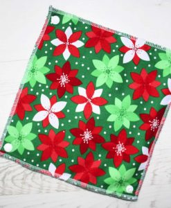 Poinsettia – Reusable Kitchen Roll – Set of 8