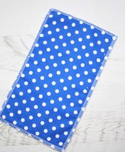 Blue Polka Dot – Reusable Kitchen Wipe – Half Sheet