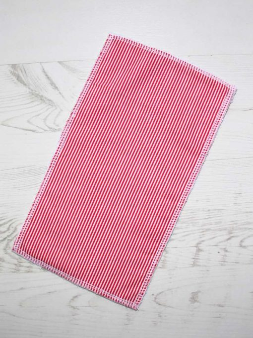 Red Stripes – Reusable Kitchen Wipe – Half Sheet