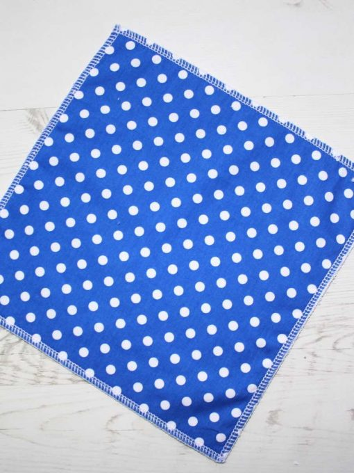 Blue Polka Dot – Reusable Kitchen Wipe – Single Sheet