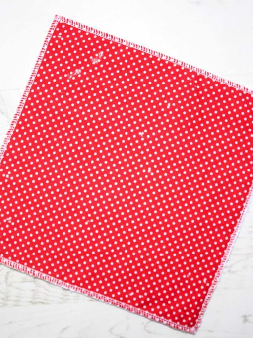 Red Dobby Spot – Reusable Kitchen Wipe – Single Sheet