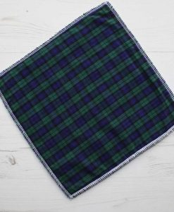 Navy and Green Tartan - Reusable Kitchen Wipe - Single Sheet