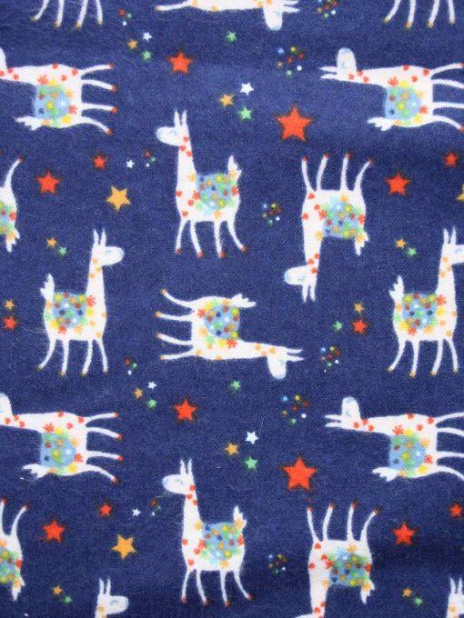 Custom made reusable cloth menstrual sanitary pad (CSP)   Fabric: Top layer - Cotton Flannel, Design: Llama Navy