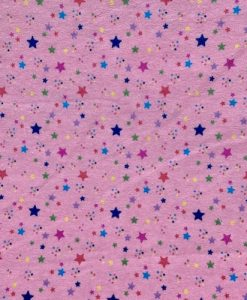 Custom made reusable cloth menstrual sanitary pad (CSP) | Fabric: Top layer - Cotton Flannel, Design: Stars on Pink