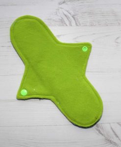 10″ Heavy Flow cloth pad | Neon Galaxy Cotton Jersey | Lemongrass Wind Pro Fleece | Luna Landings | Sub 3
