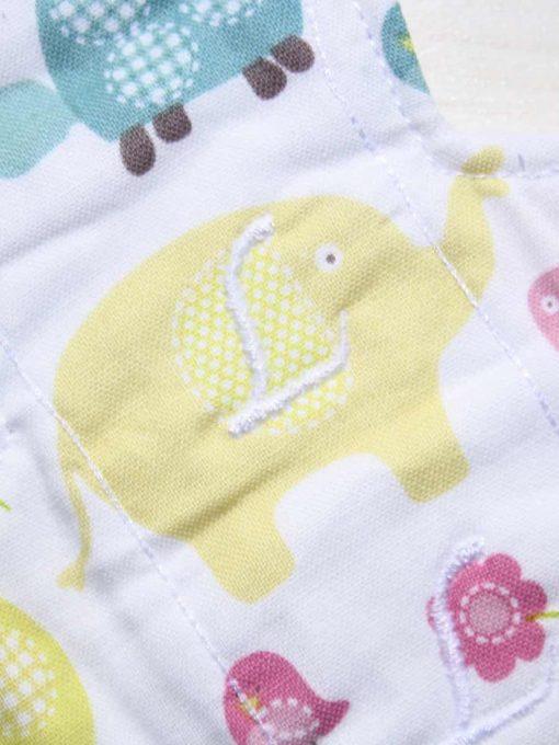 10″ Liner cloth pad | Elephant and Tortoise Cotton | White Polar Fleece | Luna Landings | Slim Sub 2