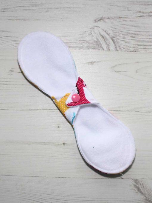 10″ Liner cloth pad | Zoology Cotton | White Polar Fleece | Luna Landings | Slim Sub 4