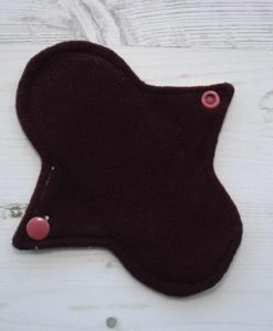 6″ Regular Flow cloth pad | Butterfly Meadow Yelllow Cotton | Burgundy Wind Pro Fleece | Luna Landings | Sub