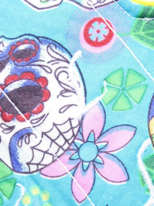 "6"" Regular Flow cloth pad | Day of the Dead Aqua Cotton | Lemongrass Wind Pro Fleece | Luna Landings | Sub"