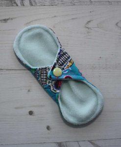 6-inch-Regular-Flow-cloth-menstrual-pad-Day-of-the-Dead-Aqua-Cotton-and-Mint-Wind-Pro-Fleece-Luna-Landings-Sub_4