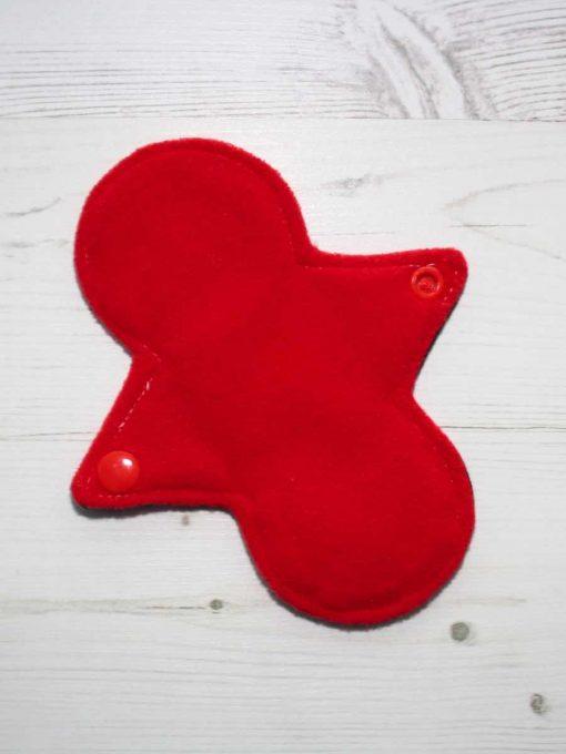 "6"" Regular Flow cloth pad   Electric Skies Cotton   Red Wind Pro Fleece   Luna Landings   Slim Sub"