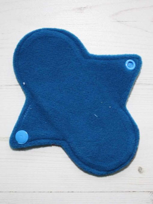 6″ Regular Flow cloth pad | Harmony Cotton Jersey | Blue Wind Pro Fleece | Luna Landings | Sub 3