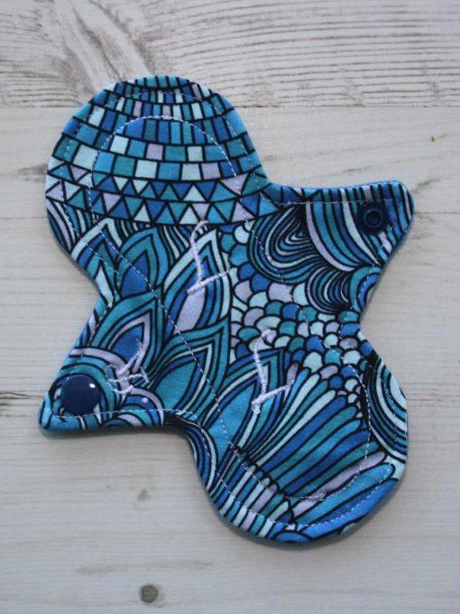 6″ Regular Flow cloth pad | Pacific Cotton Jersey | Blue Wind Pro Fleece | Luna Landings | Slim Sub 1