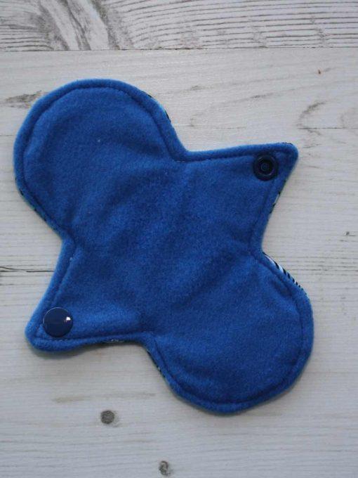 6″ Regular Flow cloth pad | Pacific Cotton Jersey | Blue Wind Pro Fleece | Luna Landings | Slim Sub 3