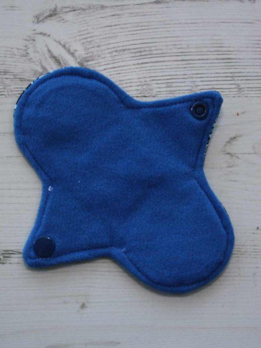 6″ Regular Flow cloth pad | Pacific Cotton Jersey | Blue Wind Pro Fleece | Luna Landings | Sub 3