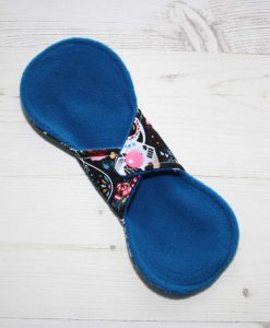 8″ Liner cloth pad | Empire Day of the Dead Cotton Jersey | Blue Wind Pro Fleece | Luna Landings | Slim Sub 4