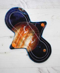 8″ Liner cloth pad | Large Planets Cotton | Blue Wind Pro Fleece | Luna Landings | Slim Sub 1