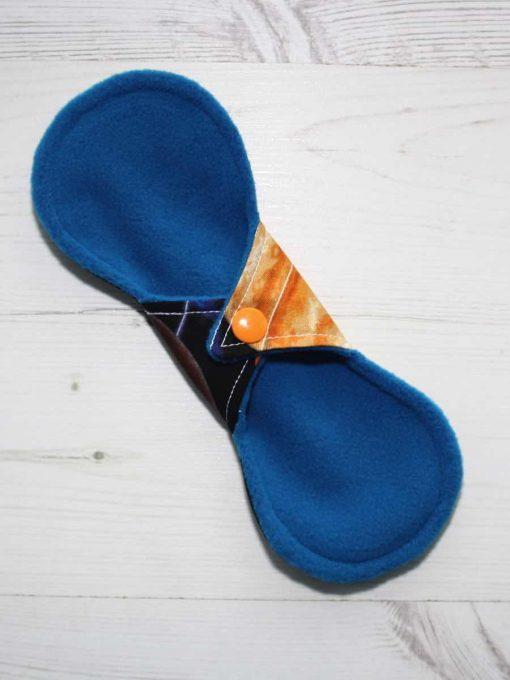 8″ Liner cloth pad | Large Planets Cotton | Blue Wind Pro Fleece | Luna Landings | Slim Sub 4