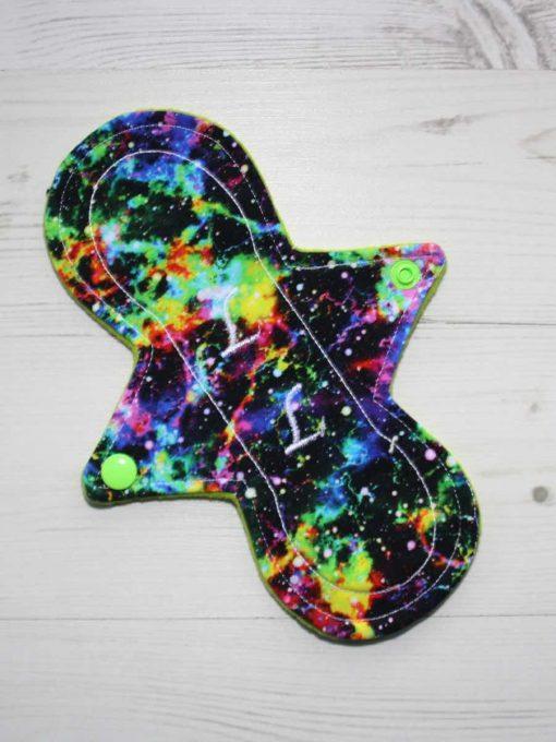 8″ Liner cloth pad | Neon Galaxy Cotton Jersey | Lemongrass Wind Pro Fleece | Luna Landings | Slim Sub