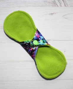 8″ Liner cloth pad | Neon Galaxy Cotton Jersey | Lemongrass Wind Pro Fleece | Luna Landings | Slim Sub 4