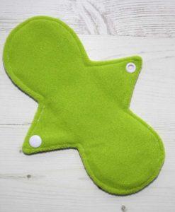 8″ Regular Flow cloth pad | Vintage Ponies Cotton Jersey | Lemongrass Wind Pro Fleece | Luna Landings | Slim Sub 3