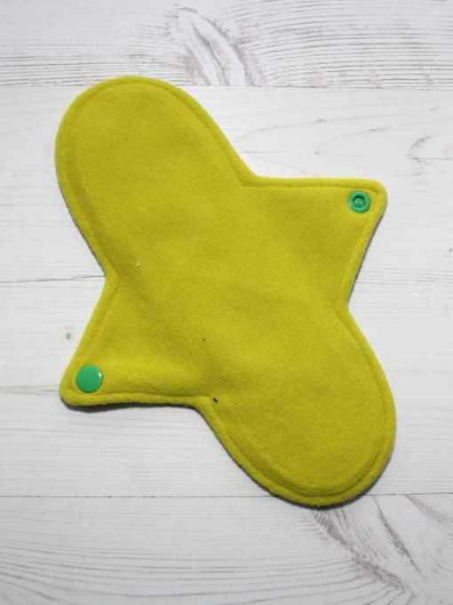 "9"" Heavy Flow cloth pad | Crystal Dino Cotton Jersey | Yellow Wind Pro Fleece | Luna Landings | Sub"
