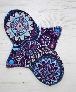 9″ Heavy Flow cloth pad | Harmony Cotton Jersey | Blue Wind Pro Fleece | Luna Landings | Sub 1