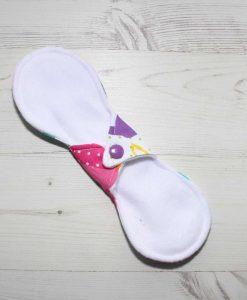 9″ Liner cloth pad | Cartoon Cats Cotton | White Polar Fleece | Luna Landings | Slim Sub