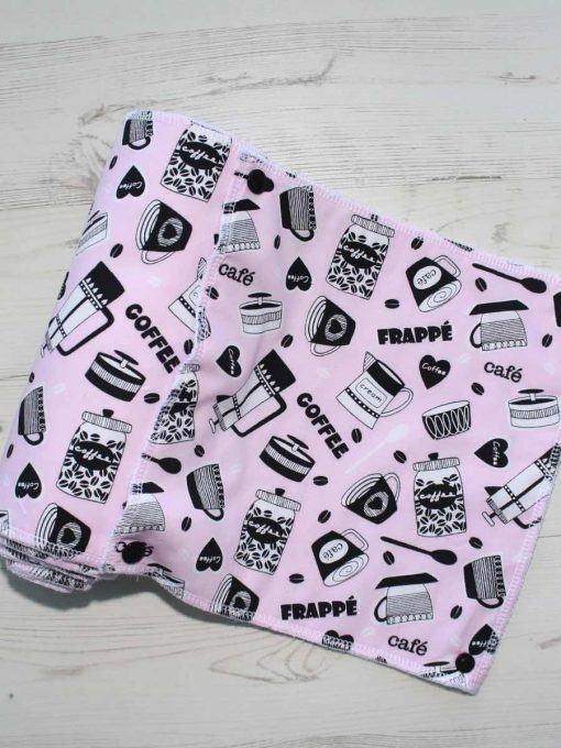 Barista Pink – Reusable Kitchen Roll – Set of 7