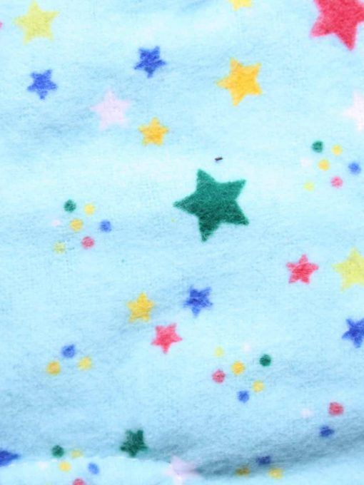 10″ Light Flow cloth pad | Aqua Stars Cotton Flannel | Black Organic Cotton Fleece | Luna Basics | Slim Sub