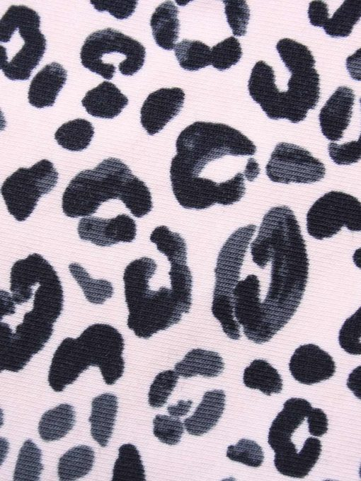10″ Liner cloth pad | Pink Leopard Cotton Jersey | Black Organic Cotton Fleece | Luna Basics | Sub