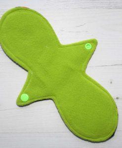 "10"" Regular Flow cloth pad | Invaders Cotton Jersey | Green Wind Pro Fleece | Luna Landings | Slim Sub"