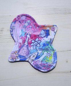 "6"" Liner cloth pad | Bright Science Cotton Jersey | Purple Polar Fleece | Luna Landings | Sub"