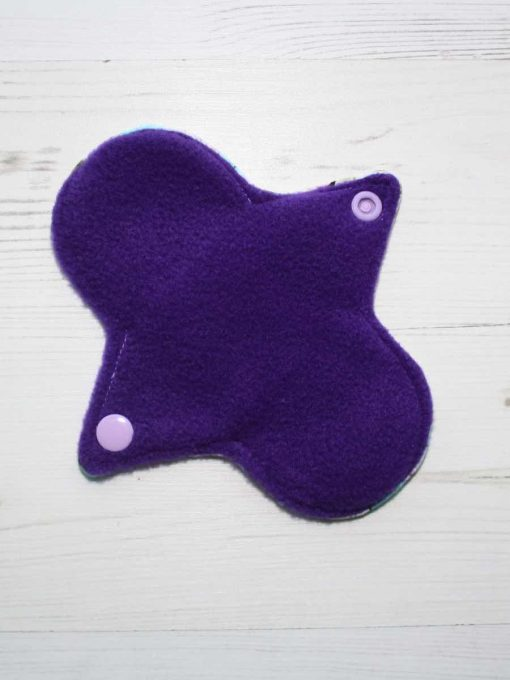 "6"" Liner cloth pad | Marshmallows Cotton Jersey | Purple Polar Fleece | Luna Landings | Sub"