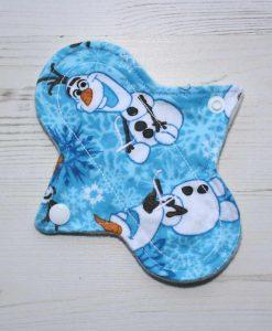 6″ Liner cloth pad | Olaf Cotton Flannel | Cream Wind Pro Fleece | Luna Landings | Sub