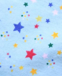 8″ Light Flow cloth pad | Aqua Stars Cotton Flannel | Black Organic Cotton Fleece | Luna Basics | Sub