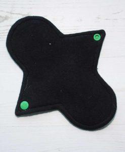 8″ Light Flow cloth pad   Aqua Stars Cotton Flannel   Black Organic Cotton Fleece   Luna Basics   Sub